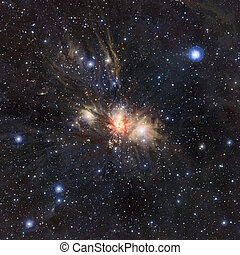 Stars nebula in space. - Colorfull stars nebula in outer...