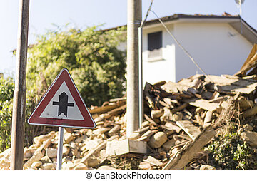 Earthquake aftermath - Ruins for earthquake in Italy