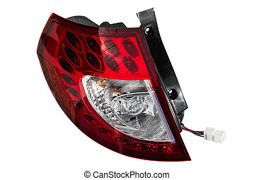 rear car lights isolated on white background