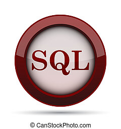 SQL icon Internet button on white background