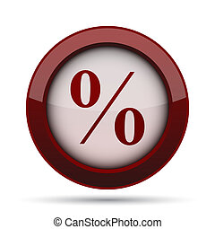 Percent  icon. Internet button on white background.