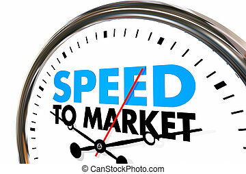 Speed to Market Fast Product Development Speedometer 3d...