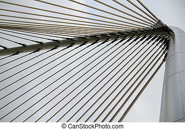 Suspension Cable - closeup on the suspension cable of a...