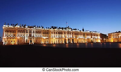 PAN: Hermitage and Palace Square in White nights,...