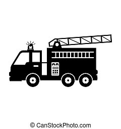 fire truck equipement service emergency vector illustration...