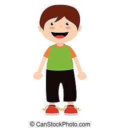 boy cartoon happy isolated design