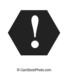 attention caution warning symbol design