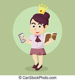 nerd modern beauty princess