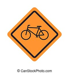 sign icon bicycle road design