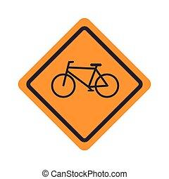 自転車, 印, デザイン, 道, アイコン