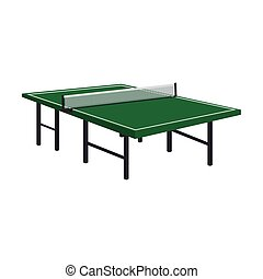table tennis ping pong wooden green vector illustration eps...