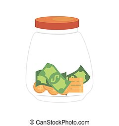 saving money currency isolated vector illustration eps 10