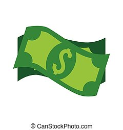 bills dollar money cash isolated vector illustration eps 10