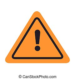 signal attention warning yellow isolated vector illustration...