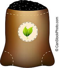 fertilizante, bolsa