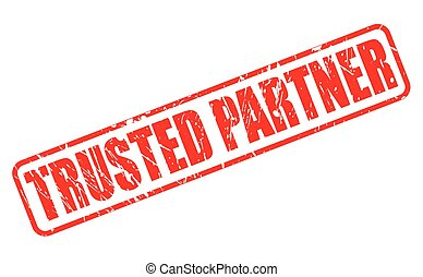 TRUSTED PARTNER red stamp text on white
