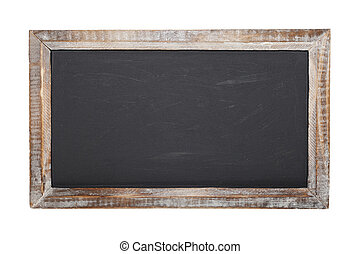 Chalkboard Isolated - An old blank chalkboard isolated on...