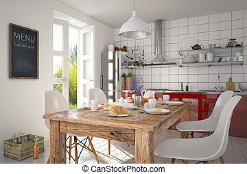 3d - modern kitchen interior - shot 03