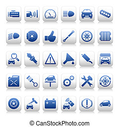 Automobile maintenance icons - Set of automobile maintenance...