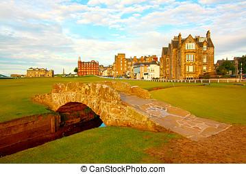 Swilcan Bridge, St Andrews - Golf course,Swilcan Bridge, St...