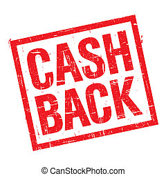 Cash back stamp in red - Grunge stamp with text cash back on...
