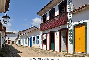 Street in Paraty - Charming street in Paraty in Brazil