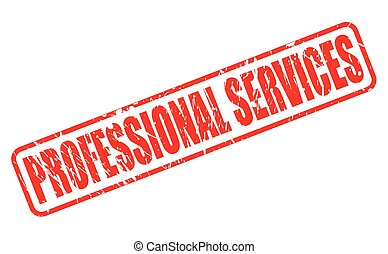 PROFESSIONAL SERVICES red stamp text on white