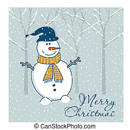 Christmas greeting card - Vector illustration of Christmas...