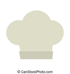 hat chef cook kitchen isolated