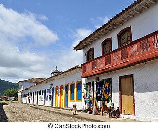 Street in Paraty in Brazil.