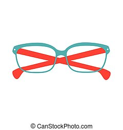 glasses blue and red fashion glass