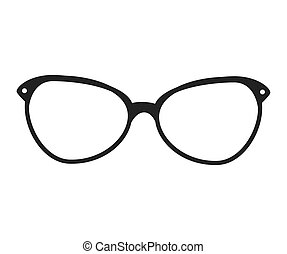glasses vintage retro hipster isolated