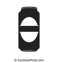 icon beer can drink liquid isolated vector illustration eps...