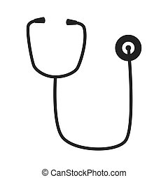 stethoscope medical icon isolated