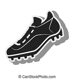 tennis silhouette shoes baseball isolated