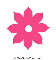 icon flower spring petals florals isolated vector...