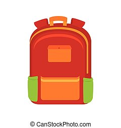 bag school baggage education isolated vector illustration...