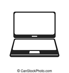 laptop digital technology isolated vector illustration eps...
