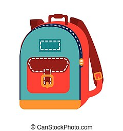 backpack bag school isolated vector illustration eps 10