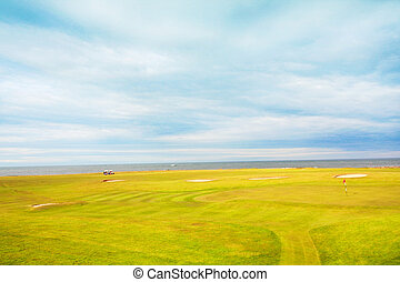 Golf course in the fields