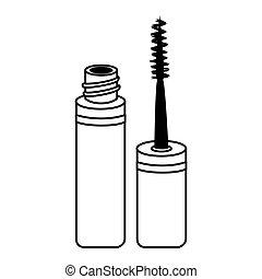 mascara make up brush isolated vector illustration eps 10