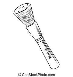 make up brush tool isolated vector illustration eps 10