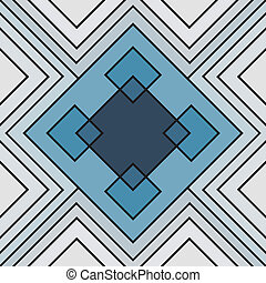Seamless square geometric endless pattern, continuous...