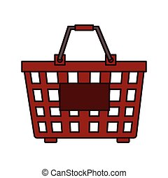 basket red market buy isolated vector illustration eps 10