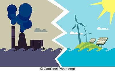 Evolution from industrial pollution to eco energy