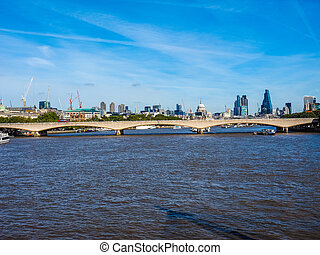 Waterloo Bridge in London HDR - High dynamic range HDR...