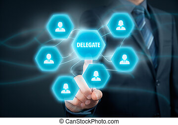 Delegate - Manager delegate work on another person in team...