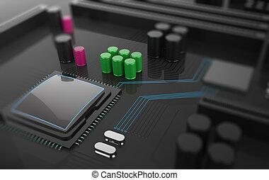 Central Computer Processor CPU concept