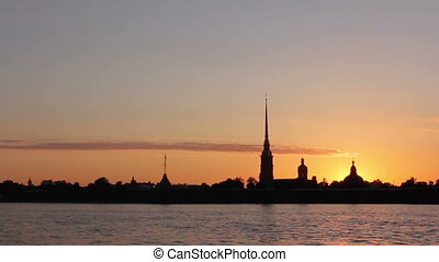 Peter and Paul Fortress at sunset - Peter and Paul Fortress...
