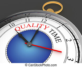 quality time concept clock closeup